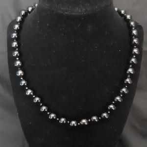 Ross Simon Black Onyx Bead Necklace